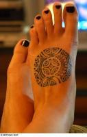 Tribal Foot Tat