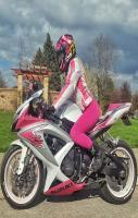 Pink Ladies Suzuki Bike