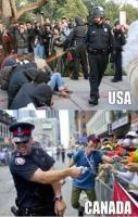 The difference between USA and Canada