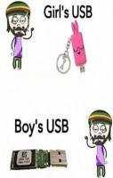 Girls USB and Boys USB