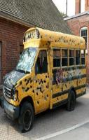 Ms. Frizzle takes her class through the hood