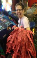 My mom just won 1,050 tickets at the arcade