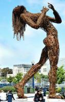 Ms. Rusty Ecstasy Sculpture Made of Iron; Photo by VoidBuff.