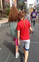 Three rat tails in a row. Only in Vegas!