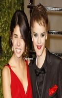 hahahhahahah. selena gomez and justin bieber switched faces