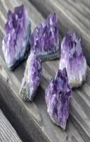 healing crystals amethyst with stone