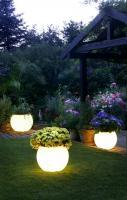 Lighted planters. So awesome!