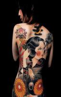 Japanese Girls Backside tattoos