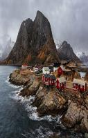A fishing village in Norway