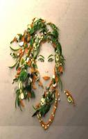 Girl Face Drawing using Vegetables... Amazing Art