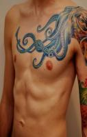 Octopus Tattoos on chest