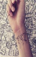 World Map Love Travel Wrist tattoo