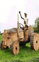 Wood Funny Tractor