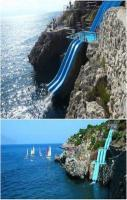 The world's coolest water slide, Sicily, Italy