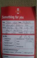 Good guy Royal Mail Postie.
