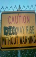 I think I always get a warning..... He kisses me...