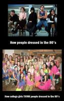 How People Dressed in 80's