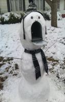 mail eating snowman