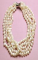 Pearl Necklace 5 Strand