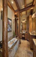 Awesome bathroom Wood Work