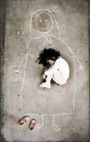 Image by an Iraqi artist taken in an orphanage. This little girl has n