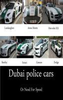 Dubai Police Cars or Need for Speed