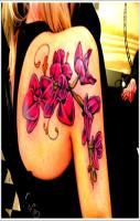 Orchid Tattoo Design For Girl On Back