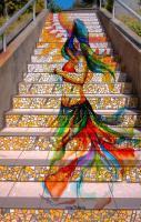 Amazing mosaic stairs.