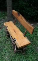 Oak, Cherry, and Mountain Laurel Garden Bench W