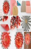 Giant Paper Dahlia Wreath! DIY