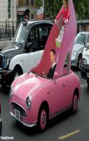 Pink Stilleto Shoe Car