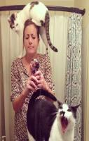 Selfie expert level Cat lady