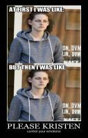 Emotional Kristen Stewart is emotional.