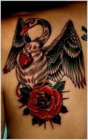 Black Swan Tattoo Designs On Upper Back