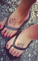 Best Friend tattoos! 831 means I LOVE YOU.. 8 letters, 3 words, 1 mean
