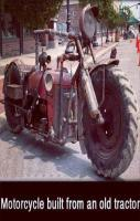 Motorcycle Built From An Old Tractor