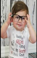 Funny baby shirt my daddy is a geek!