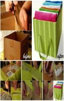 Recycle and Organize Box for Organizing Towels