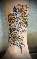This would be great in white ink! Flowers