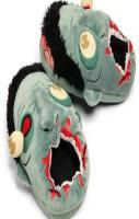 Plush Zombie Slippers ($36.28)  Show your love or hate for zombies by