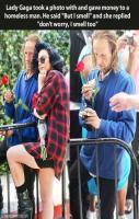Lady Gaga Attitude towards Poor Homeless Man