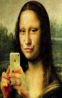 Funny Selfie Pictures Mona Lisa
