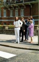 Just before the famous Abbey Road picture was taken.