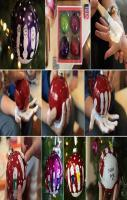 Hot to make Hand Print Ornaments! DIY