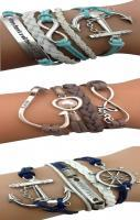 Nautical Anchor Arm Party Bracelets ♥ L.O.V.E