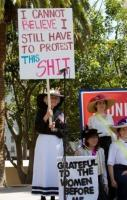 Meanwhile, at a women's equality demonstration, possibly the best pro