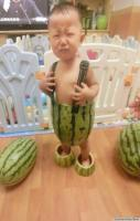 BABIES IN WATERMELON SHORTS