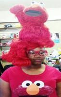 Committed to the Elmo Look FAIL ---- funny pictures hilarious jokes me