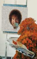 bob ross backwards
