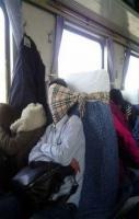 Scarf as Head Holder and Mask..... Well that's one way to do it lol